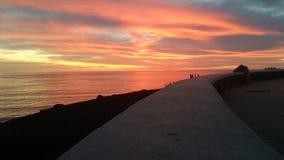 czerwony zachód słońca Obraz Stock