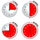 czerwony zegar Obrazy Royalty Free