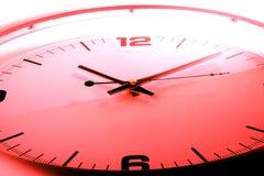 czerwony zegara Zdjęcie Royalty Free