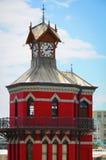 Czerwony zegarowy wierza w Kapsztad, Południowa Afryka Fotografia Stock