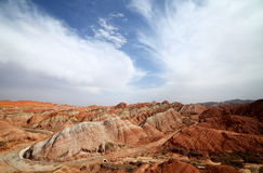 Czerwony Zhangye Danxia landform Fotografia Royalty Free