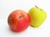 czerwony zielone jabłka fotografia stock