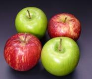 czerwony zielone jabłka Obraz Stock