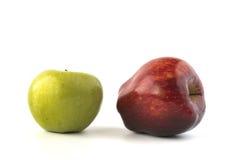 czerwony zielone jabłka Fotografia Royalty Free