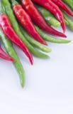 czerwony zielony chili Zdjęcie Stock