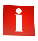 czerwony znak informacyjny Obrazy Royalty Free