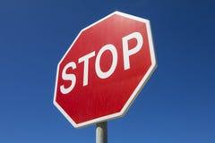 czerwony znak stop Fotografia Royalty Free