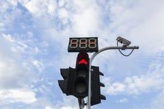 czerwony znak stop Obrazy Stock