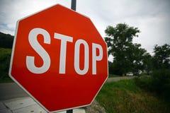 czerwony znak stop Obraz Stock