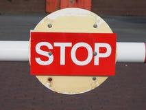 czerwony znak stop Obraz Royalty Free