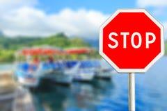 czerwony znak stop Zdjęcie Royalty Free