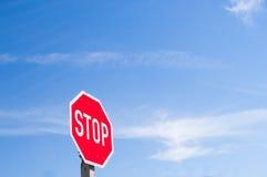czerwony znak stop Zdjęcie Stock