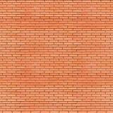 Czerwonych cegieł ściany bezszwowa tekstura Fotografia Royalty Free