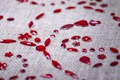 Czerwonych cekinów kwiecisty ornament Obraz Royalty Free