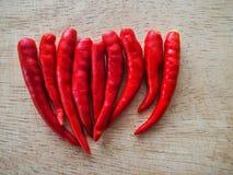 Czerwonych chilies zamknięty up Zdjęcia Stock