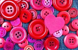 Czerwonych guzików tekstury tło Obraz Stock