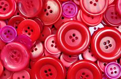 Czerwonych guzików tekstury tło Zdjęcia Stock