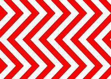 Czerwonych i białych strzała bezszwowy wzór Fotografia Royalty Free