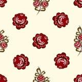 Czerwonych jagod bezszwowy deseniowy tło Obrazy Royalty Free