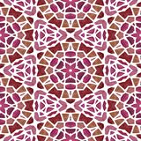 Czerwonych kolorów nowożytny abstrakcjonistyczny bezszwowy kalejdoskop ilustracji