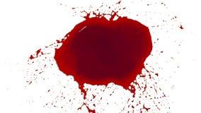 Czerwonych kropel splatters w zwolnionym tempie i spadki farbujący olej royalty ilustracja