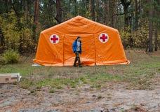Czerwonych Krzyży wolontariuszi Obrazy Royalty Free