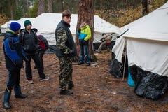 Czerwonych Krzyży wolontariuszi Zdjęcie Royalty Free