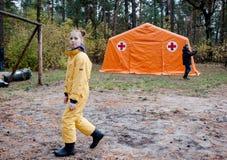 Czerwonych Krzyży wolontariuszi Fotografia Royalty Free