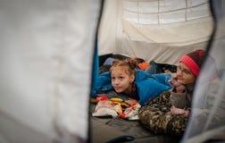 Czerwonych Krzyży wolontariuszi Fotografia Stock