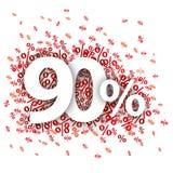90 Czerwonych procentów Zdjęcie Royalty Free