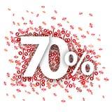 70 Czerwonych procentów Zdjęcie Royalty Free