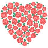 Czerwonych róż kierowy projekt royalty ilustracja