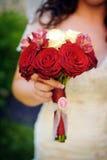 Czerwonych róż rocznika bukiet Zdjęcie Royalty Free