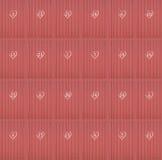 Czerwonych serc kalendarzowi drzwi Fotografia Royalty Free