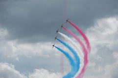 Czerwonych strzała lotniczy pokaz Zdjęcia Stock