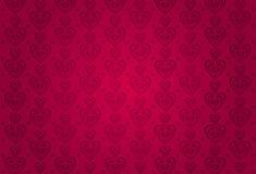 Czerwonych valentines karciany tło Obraz Royalty Free