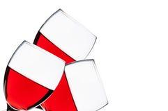 Czerwonych win szkła Zdjęcia Stock