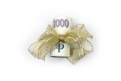Czescy banknoty - pieniądze, prezent Fotografia Stock