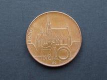 Czescy korunas monet Zdjęcia Royalty Free