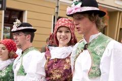 czeska ludu grupy republika tradycyjna Obrazy Royalty Free