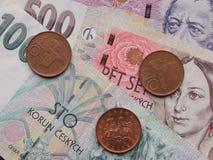 Czeska waluta Zdjęcia Stock