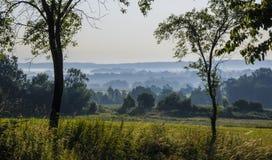 Czeska wieś w wczesnego poranku świetle Obrazy Royalty Free