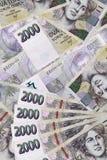 Czeski banknot (tousand dwa korony) Zdjęcie Stock
