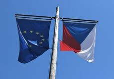 czeski europejczyk zaznacza republiki zjednoczenie Obraz Stock