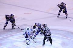 czeski extraleague face-off hokej zdjęcie royalty free