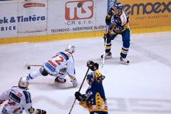 czeski extraleague hokeja baraż fotografia stock