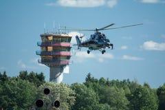 Czeski Mi-24 łani śmigłowiec szturmowy Obrazy Stock