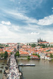 czeski panoramiczny Prague republiki widok Zdjęcie Stock