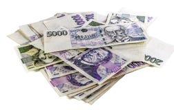 Czeski pieniądze fotografia stock