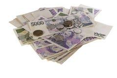 Czeski pieniądze zdjęcia royalty free
